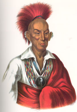 Galena's Old Stockade - Chief Black Hawk