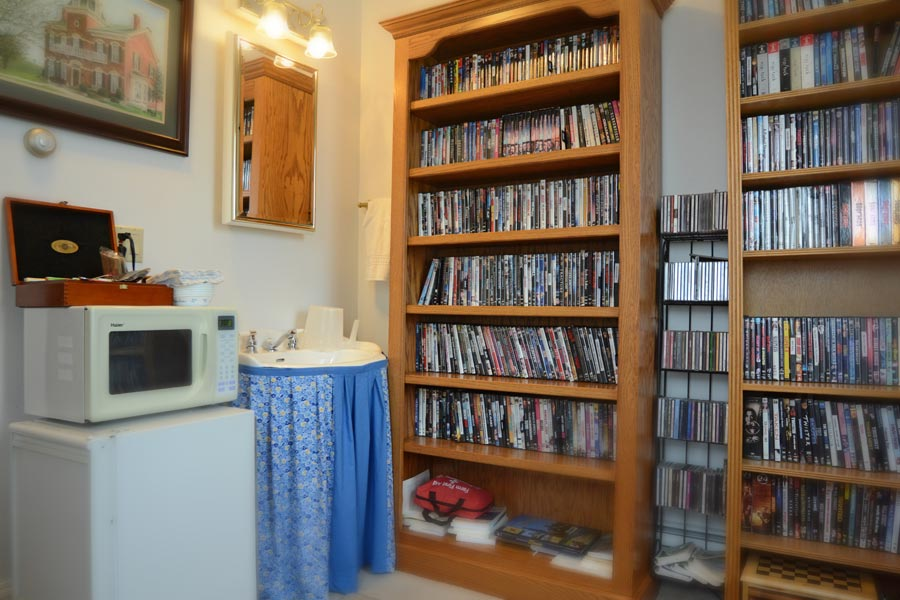 Guest DVD library