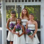 bridesmaids at Cloran Mansion gazebo
