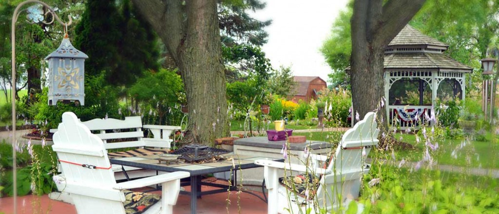 Gazebo and outdoor seating
