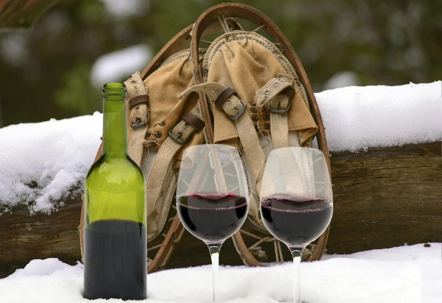 Galena Cellars' Snowshoe Hike and Wine Tasting